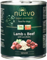 Корм для собак Nuevo Senior Lamb & Beef with oat flakes / 95016 (400г) -