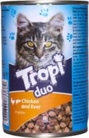 Корм для кошек Tropi Duo с цыпленком и печенью в соусе / TROPI02 (415г) -