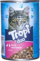 Корм для кошек Tropi Duo с уткой и сердцем в соусе / TROPI01 (415г) -