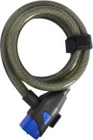 Велозамок Oxford Key Coil 15 / LK285 (серый) -