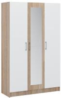 Шкаф Империал Алёна 3-х дверный (дуб сонома/белый) -
