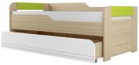 Двухъярусная кровать Аквилон Стиль №900.1 (туя светлая/лайм) -