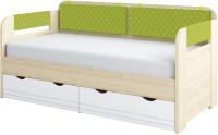 Кровать-тахта Аквилон Стиль №800.4 (туя светлая/лайм) -