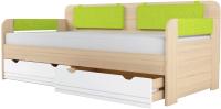 Кровать-тахта Аквилон Стиль №900.4 (туя светлая/лайм) -