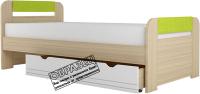 Односпальная кровать Аквилон Стиль №900.3 (туя светлая/лайм) -