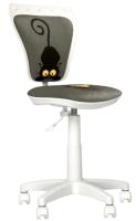 Кресло детское Nowy Styl Ministyle GTS White PL55 (Cat Grey) -