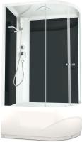 Душевая кабина Domani-Spa Delight 128 High L / DS01D128LHBCl00 (черный/прозрачное стекло) -