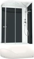 Душевая кабина Domani-Spa Delight 128 High R / DS01D128RHBCl00 (черный/прозрачное стекло) -