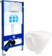 Унитаз подвесной с инсталляцией Sanita Luxe Attica SL DM ATCSLWH0104 + INS-0000003 -