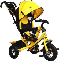 Детский велосипед с ручкой Micio Classic Air 2019 / 3871488 (желтый) -