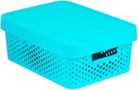 Контейнер для хранения Curver Infiniti / 04753-Х34-00 (11л, синий) -