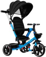 Детский велосипед с ручкой Micio Veloce + / 4700946 (синий) -