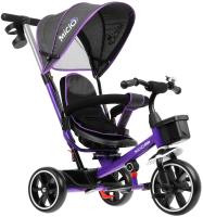 Детский велосипед с ручкой Micio Veloce / 4700945 (фиолетовый) -