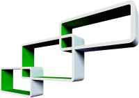 Полка-ячейка QWERTY Нью-Йорк / 72011 (белый/зеленый) -