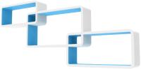 Полка-ячейка QWERTY Нью-Йорк левая / 72020 (белый/голубой) -