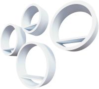 Комплект полок QWERTY Торонто / 72015 (белый) -