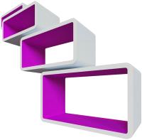 Комплект полок QWERTY Бангкок / 72018 (белый/пурпурный) -