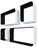 Комплект полок QWERTY Мадрид / 72019 (белый/черный) -