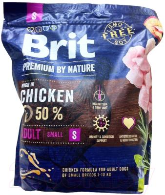 Корм для собак Brit Premium by Nature Adult S / 526284