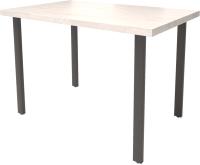 Обеденный стол Millwood Лофт Прага Л 130x80x75 (дуб белый Craft/металл черный) -
