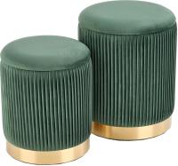 Комплект мягкой мебели Halmar Monty / V-CH-Monty-Pufa-C-Zielony (темно-зеленый/золото) -