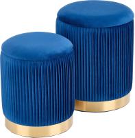 Комплект мягкой мебели Halmar Monty / V-CH-Monty-Pufa-Granatowy (темно-синий/золото) -