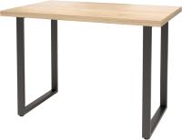 Обеденный стол Millwood Лофт Ницца Л 120x70x75 (дуб золотой Craft/металл черный) -