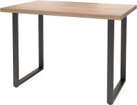 Обеденный стол Millwood Лофт Ницца Л 120x70x75 (дуб табачный Craft/металл черный) -