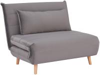 Кресло-кровать Signal Spike Velvet (серый/бук) -