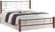 Двуспальная кровать Halmar Viera 180x200 (черешня античная/черный) -