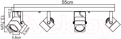 Спот Arte Lamp Lente A1314PL-4BK