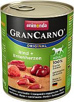 Корм для собак Animonda GranCarno Original Adult с говядиной и сердцем утки (800г) -