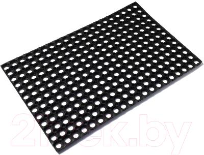 Коврик грязезащитный VORTEX 100x150 / 20004 коврик грязезащитный резиновый лапша vortex черно серый полосы 22408 40х60 см