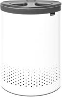 Бак для белья Brabantia 304903 (белый/темно-серый) -
