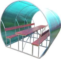Беседка КомфортПром Пион 3м с покрытием (бирюзовый) -