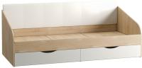 Кровать-тахта Mobi Линда 01.60 (дуб сонома/белый/гранд белый) -