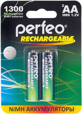 Комплект аккумуляторов Perfeo AA1300mAh/2BL