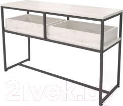 Консольный столик Millwood Лофт Пекин 1 Л 120x40x75