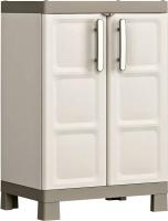Шкаф уличный Keter Excellence N GT/TF / 241048 (серый/бежевый) -