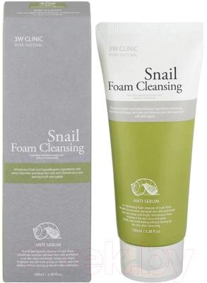 Пенка для умывания 3W Clinic Snail Foam Cleansing (100мл)