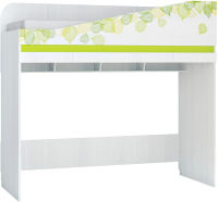 Кровать-чердак Аквилон Эко №900.6 Правый (рамух белый/лайм) -