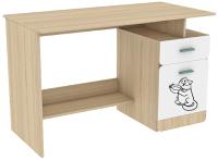 Письменный стол Аквилон Кот №17 (туя светлая/белый) -