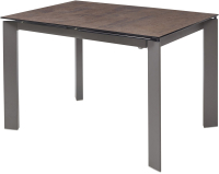 Обеденный стол Дамавер Corner 120 / DECDF5052TCOPPER -