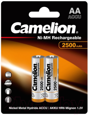 Комплект аккумуляторов Camelion NH-AA2500BP2
