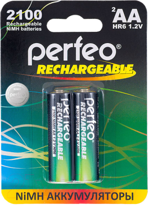 Комплект аккумуляторов Perfeo AA2100mAh/2BL