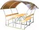 Беседка КомфортПром Астра 2м с покрытием (бронзовый) -