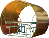 Беседка КомфортПром Пион 2м с покрытием (бронзовый) -