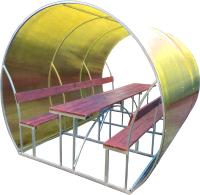 Беседка КомфортПром Пион 3м с покрытием (жёлтый) -