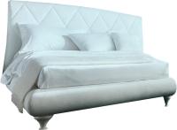 Двуспальная кровать Дамавер Alexia 180x200 / 3147PN (TR505 белый категория В экокожа/LO79 белые ноги) -