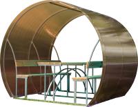 Беседка КомфортПром Пион 2м с покрытием (тонированный) -